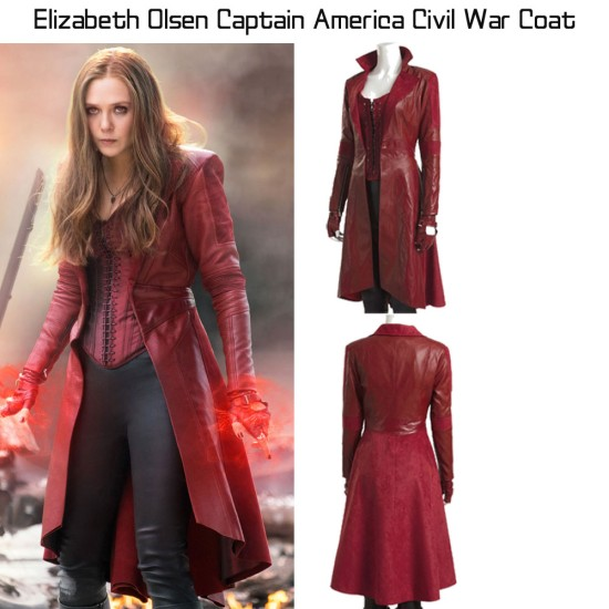 Elizabeth Olsen Captain America Civil War Coat