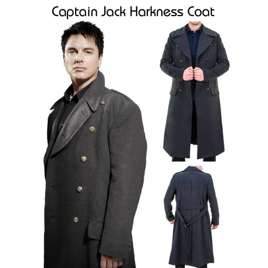 Double Breasted Captain Jack Harkness Coat