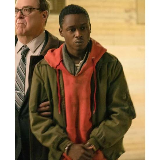 Captive State Ashton Sanders Bomber Jacket with Hoodie