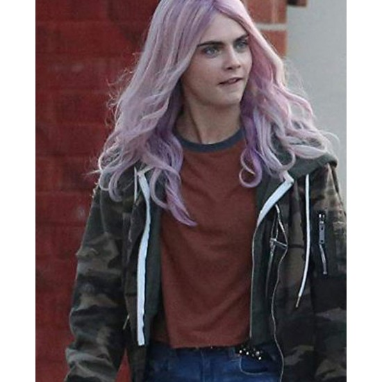 Cara Delevingne Life in a Year Military Jacket