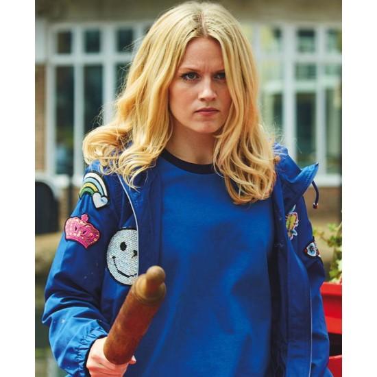 Cara Theobold Zomboat Blue Hooded Jacket
