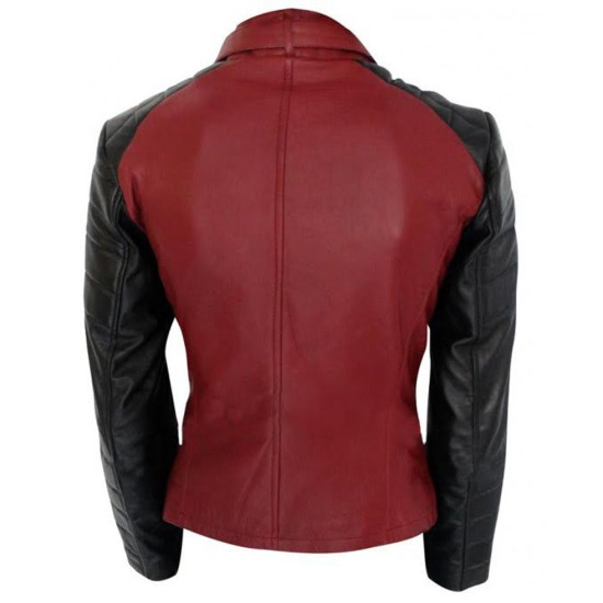 Catherine Chandler Beauty and The Beast Red Leather Jacket