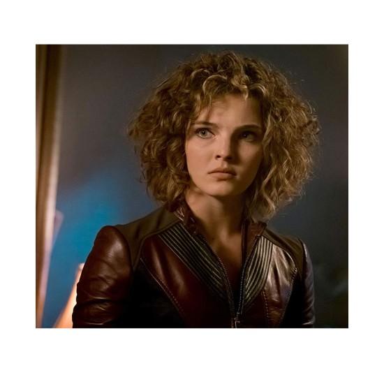 Catwoman Gotham Camren Bicondova Burgundy Leather Jacket