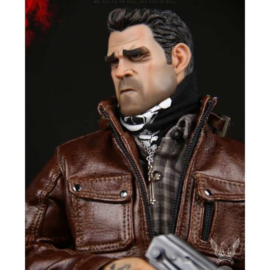 Gangsters Kingdom Spade IV Leather Jacket