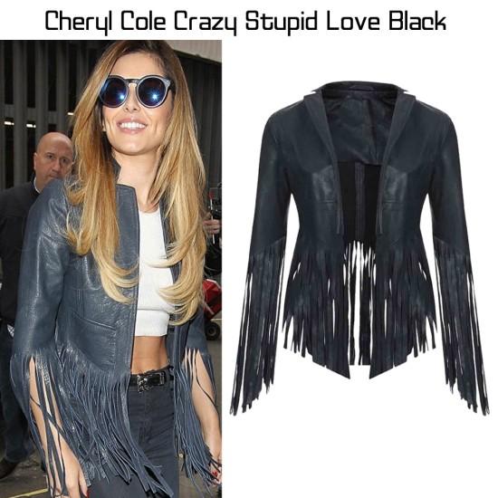 Cheryl Cole Fringed Leather Jacket