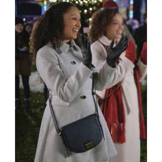 Christmas Comes Twice Tamera Mowry Housley Grey Coat
