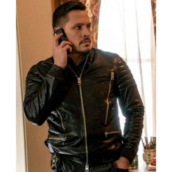 Chicago PD Nick Wechsler Motorcycle Leather Jacket