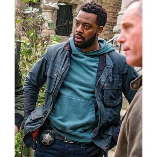 Chicago PD Laroyce Hawkins Biker Blue Jacket