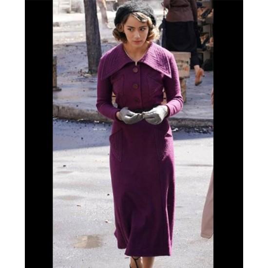 Chloe Bennet Agents of Shield Purple Coat