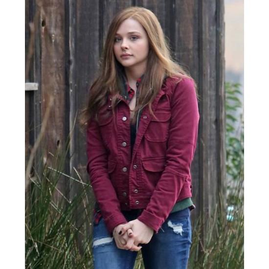 Chloë Grace Moretz If I Stay Pink Jacket