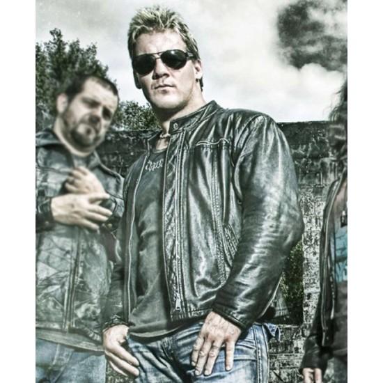 Chris Jericho Fozzy Black Leather Jacket