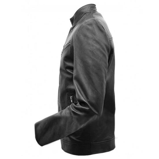 Chris Pine Horrible Bosses 2 Rex Hanson Leather Jacket