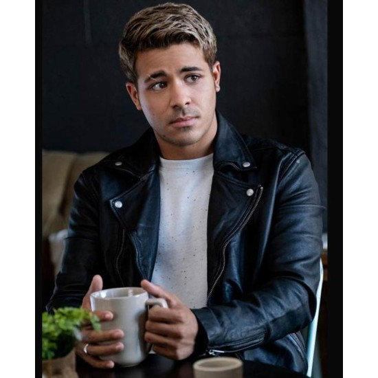 13 Reasons Why S04 Christian Navarro Biker Leather Jacket