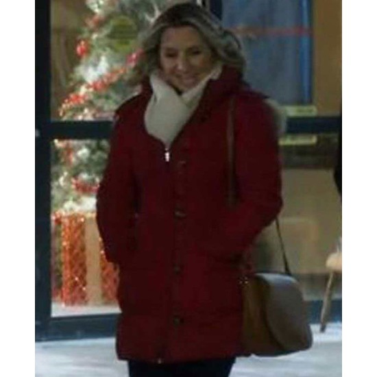 Beverley Mitchell Candy Cane Christmas Hooded Parka