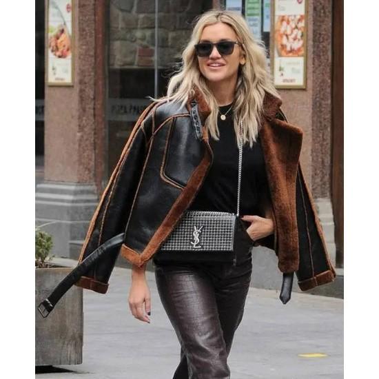 Ashley Roberts Christmas Leather Jacket