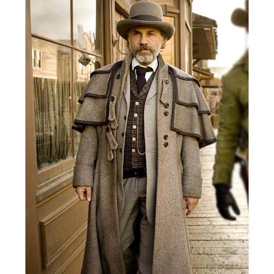 Christoph Waltz Django Unchained Grey Duster