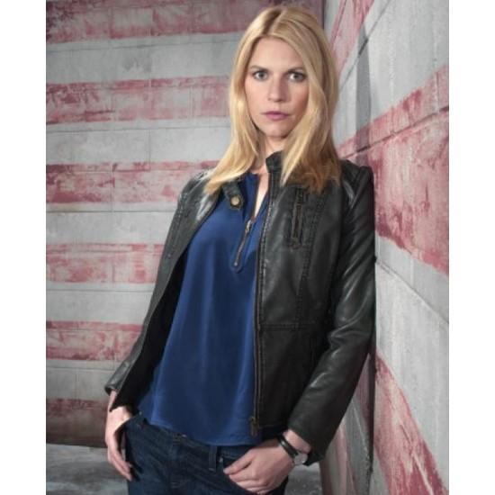 Carrie Mathison Homeland Claire Danes Black Jacket