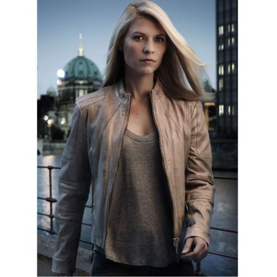 Carrie Mathison Homeland Claire Danes Grey Jacket
