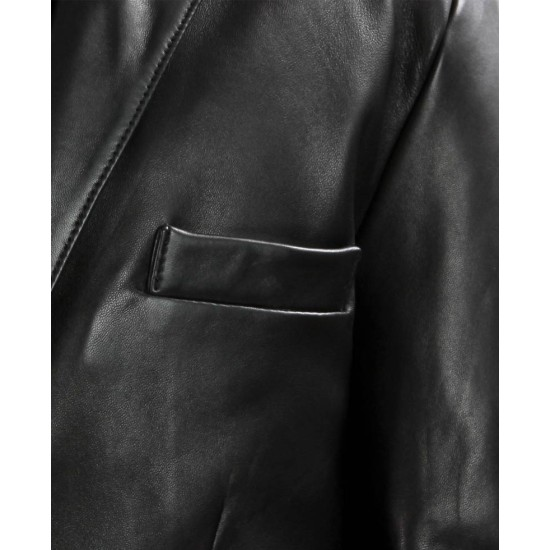 Clive Owen Shoot Em Up Smith Black Leather Jacket