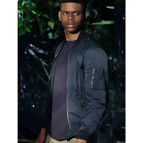 Aubrey Joseph Cloak & Dagger Blue Bomber Jacket