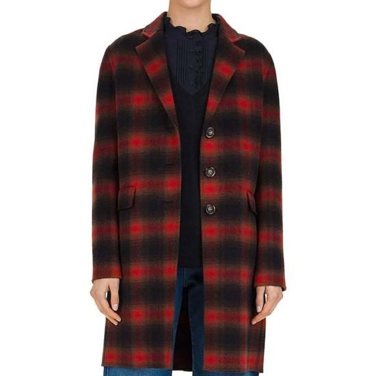 Cobie Smulders Stumptown Flannel Plaid Coat