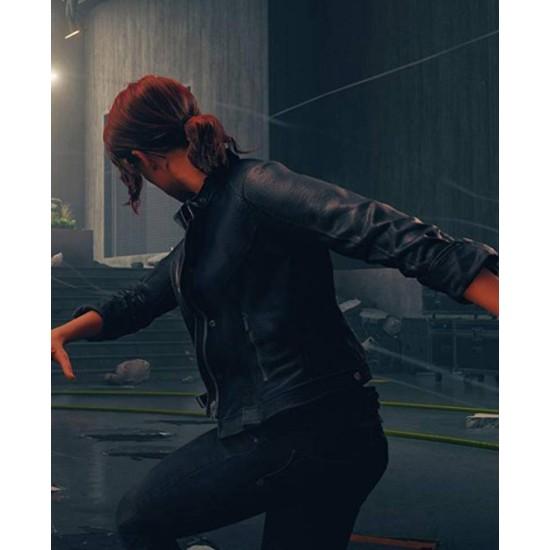 Control Black Leather Jacket