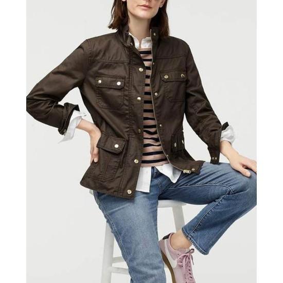 Christina Hendricks Good Girls Brown Cotton Jacket