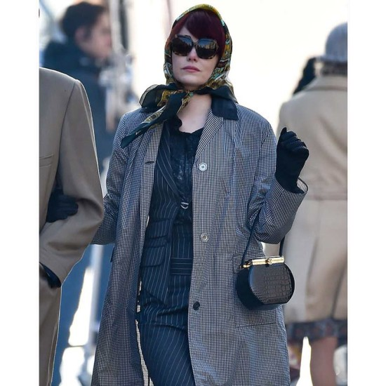 Cruella Emma Stone White and Black Coat