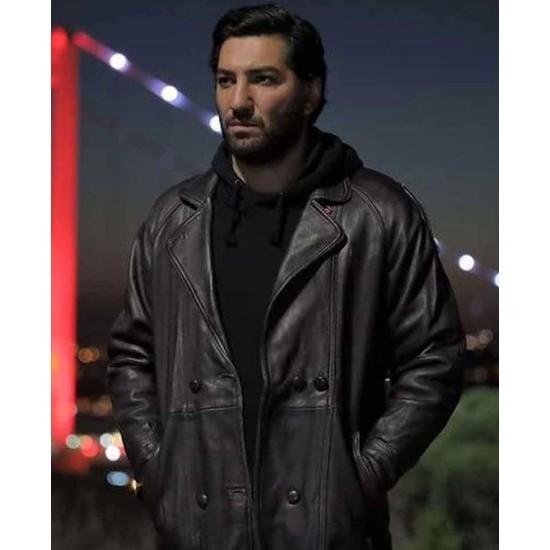 Cukur Mahsun Double Breasted Leather Coat