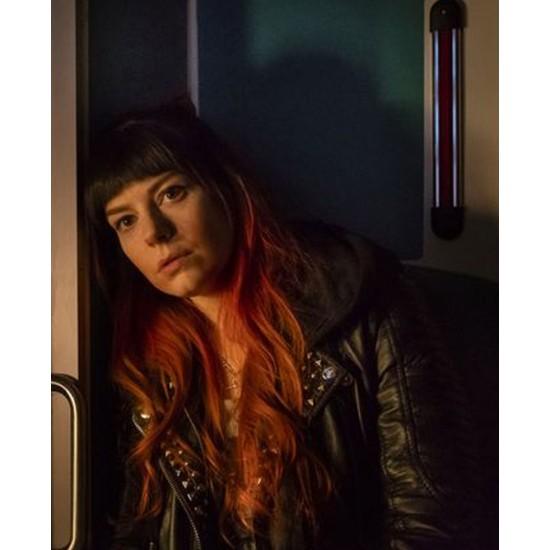 Curfew Aimee Ffion Edwards Black Leather Jacket