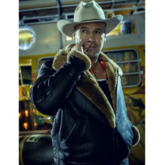 Curfew Billy Zane Brown Leather Jacket
