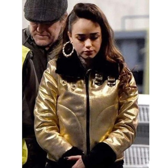 Curfew Rose Williams Shearling Leather Jacket