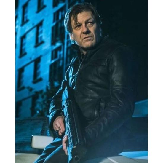 Curfew Sean Bean Black Leather Jacket