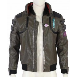 Cyberpunk 2077 Brown Leather Jacket