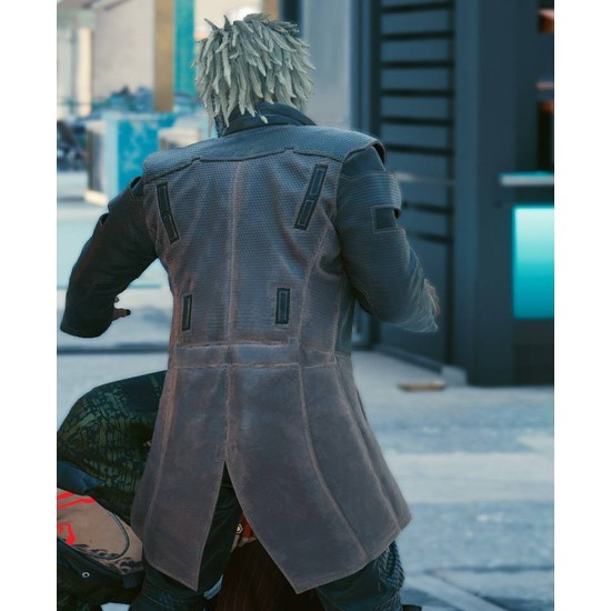 Cyberpunk Durable Motorcycle Leather Coat
