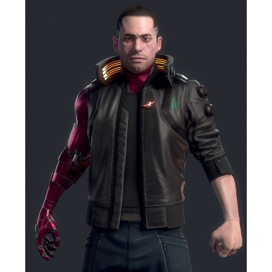 Cyberpunk 2077 Night City Dreamer Bomber Leather Jacket
