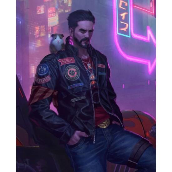 Neon Future Cyberpunk 2077 Leather Jacket