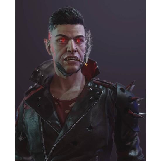 Cyberpunk Zane Devon Studded Leather Jacket