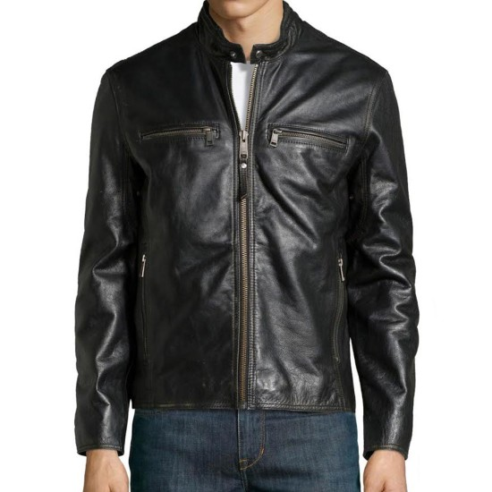 Daddy's Home Mark Wahlberg Black Leather Jacket