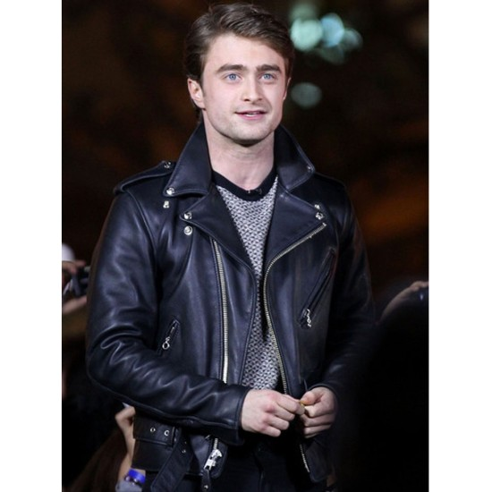Daniel Radcliffe Motorcycle Black Leather Jacket
