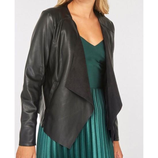 Danielle Panabaker The Flash Season 05 Black Leather Jacket
