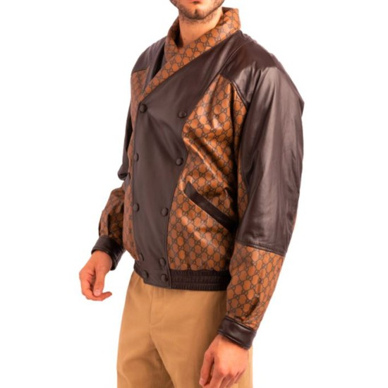 Dapper Dan Double Breasted Leather Jacket