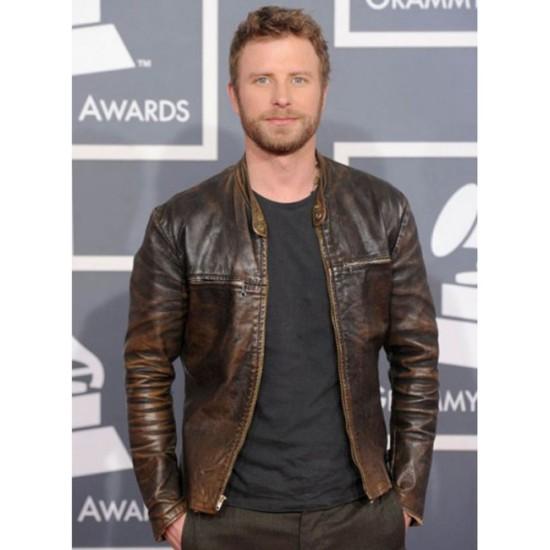 Dierks Bentley Distressed Leather Jacket