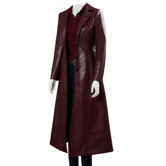 Dark Phoenix Sophie Turner Leather Coat