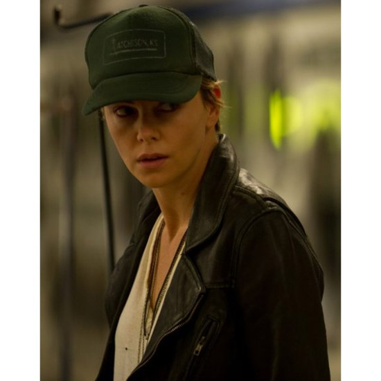 Dark Places Charlize Theron Black Leather Jacket