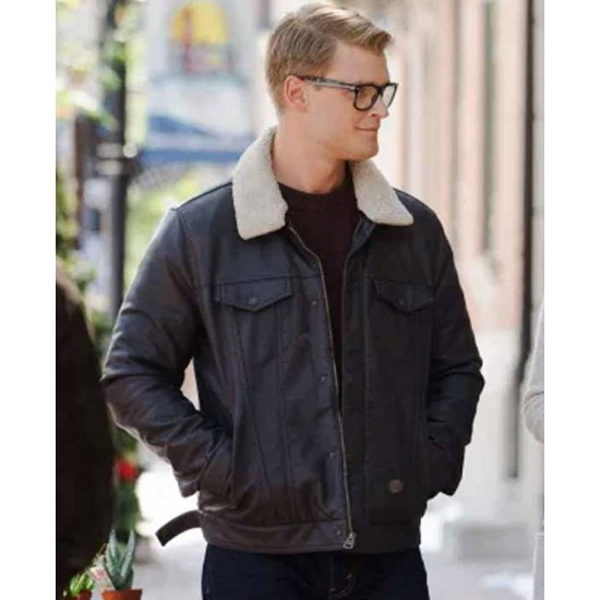 Adrian Spencer Dashing Home for Christmas Black Leather Jacket