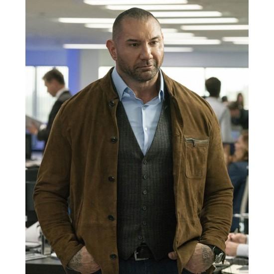 Dave Bautista My Spy Suede Brown Jacket