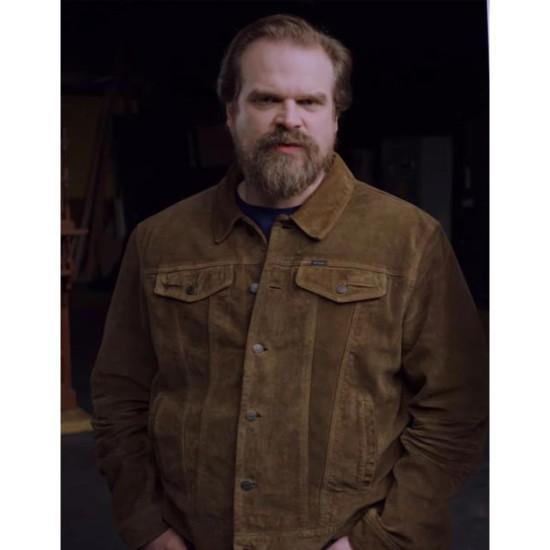 David Harbour Frankenstein Monster Suede Leather Jacket