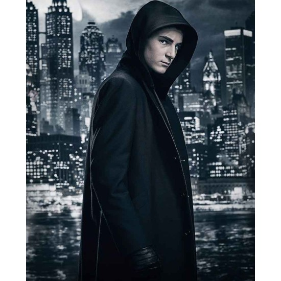 David Mazouz Gotham Season 5 Coat with Hoodie