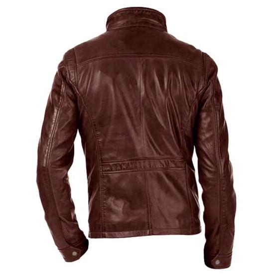 Arrow John Diggle Brown Leather Jacket